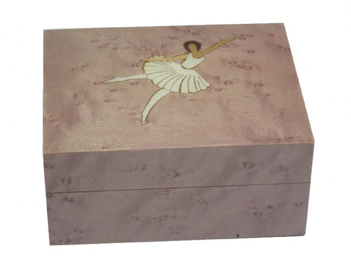 Pink Ballerina Inlay Musical Jewellery Box and Jewellery Boxes available from The Music Box Shop, England.